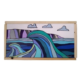 """Double Waves"" Original Block Art by Kris Gould"