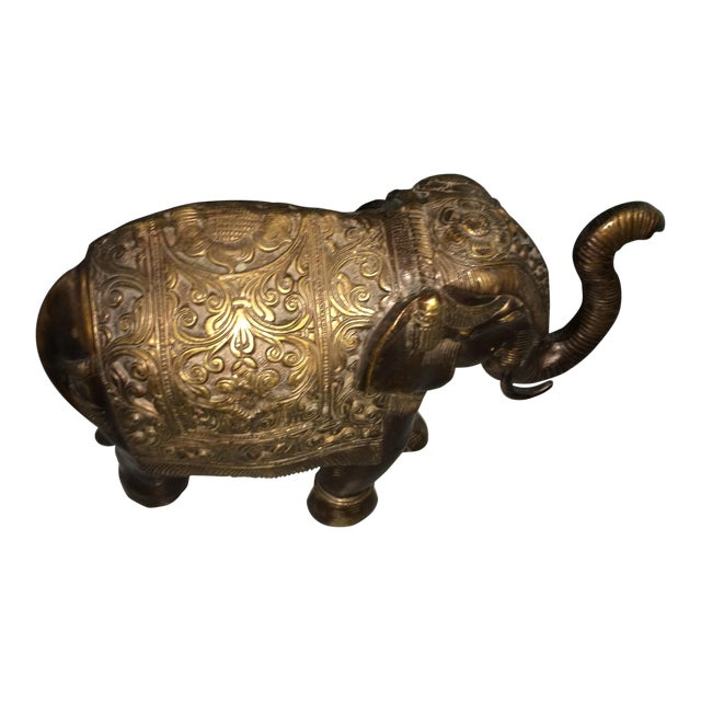Image of Heavy Brass Asian Elephant Statue