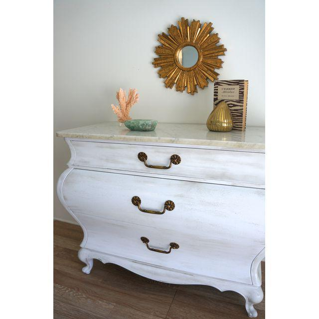 White Marble Top Commode by Grosfeld House - Image 5 of 9