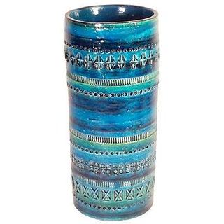 Mid-Century Modern Bitossi for Raymor Blue Vase