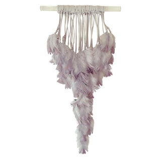Grey & Amethyst Lucite Wall Hanging