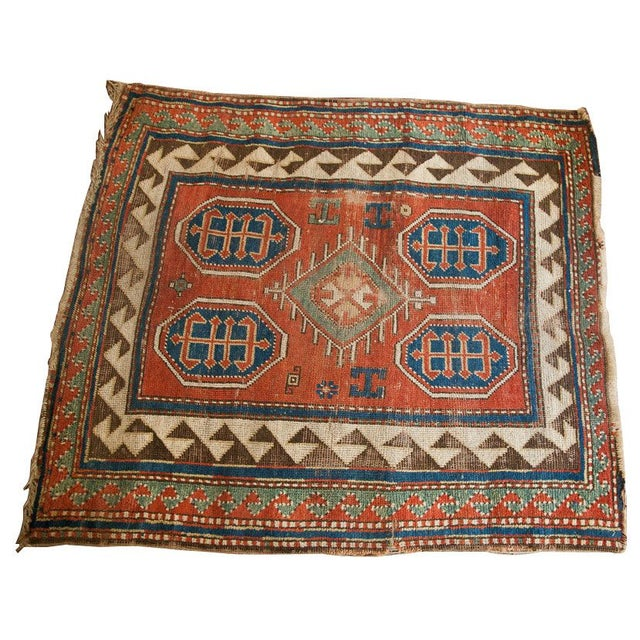 "Square Tribal Rug - 3'4"" x 3'7"" - Image 2 of 2"