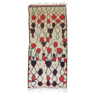 Vintage Beni Ourain Moroccan Rug - 4′6″ × 10′5″