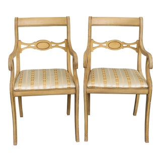 Mid-Century Traditional Style Armchairs- A Pair