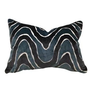 Robert Allen Batik Wave Velvet Pillow