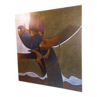 Milton Estrella-Gavidia Huge Abstract Painting