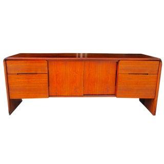 Mid Century Modern Minimalist Wood Credenza