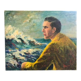 Vintage Painting - The Sailor By The Sea, Signed