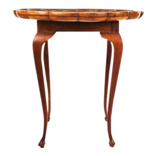18th Century Italian Scalloped Fruitwood Side Table
