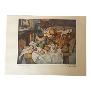 Paul Cezanne Still Life With Fruit Basket Print