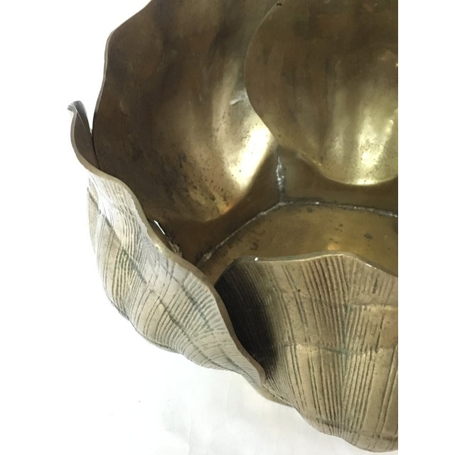 Vintage Large Shell Brass Planter or Cachepot - Image 6 of 7