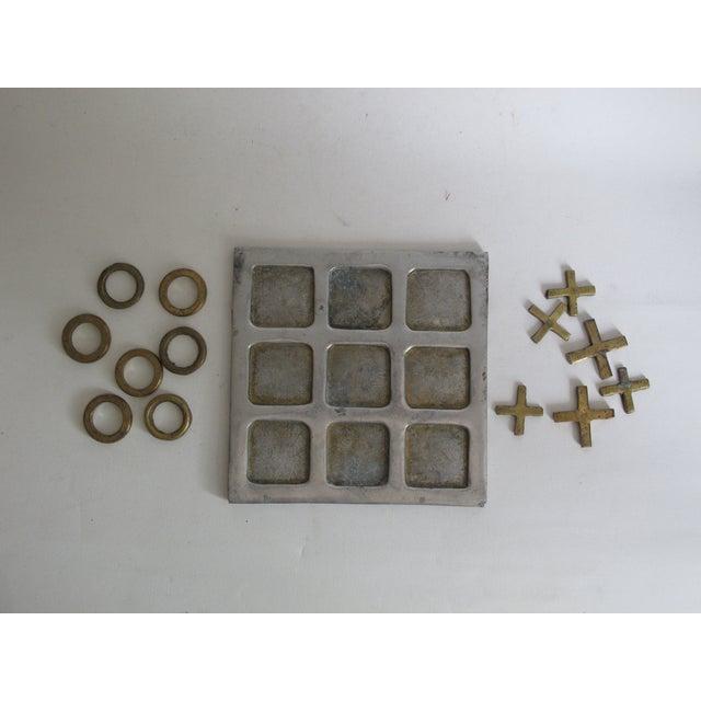 Image of Brass Tic Tac Toe Set