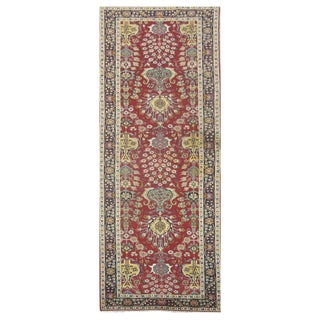 Vintage Persian Tabriz Rug - 3'2'' x 11'6''