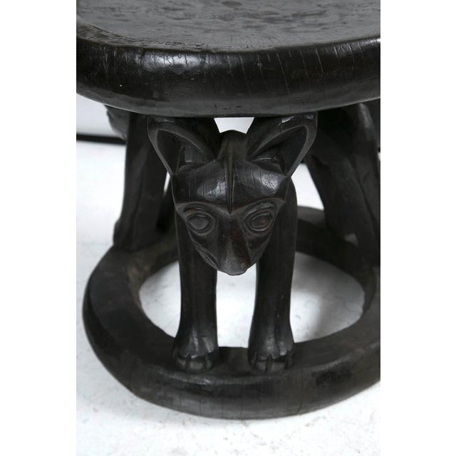 Cameroon Hand-Carved Chief's Chair - Image 1 of 3