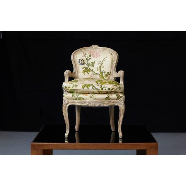 French Louis XV Style Painted Child's Fauteuil in Flower Chintz Fabric from ABC - Image 2 of 10