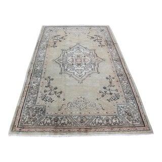 Mustard Color Turkish Carpet - 6′6″ × 9′10″