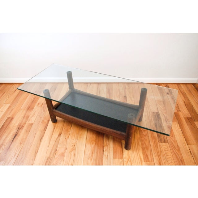 Image of Mid-Century Teak and Glass Coffee Table