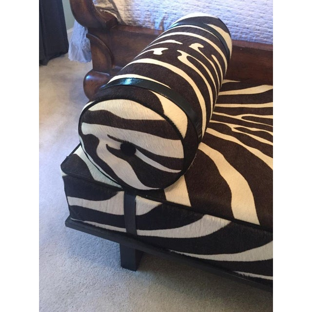 Edelman Leather Zebra Printed Bench - Image 3 of 5