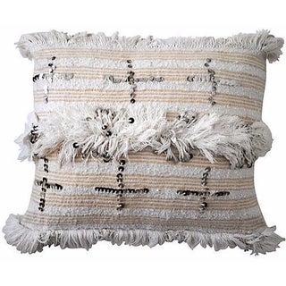 Handira Pillow Sham with Cross Sequins
