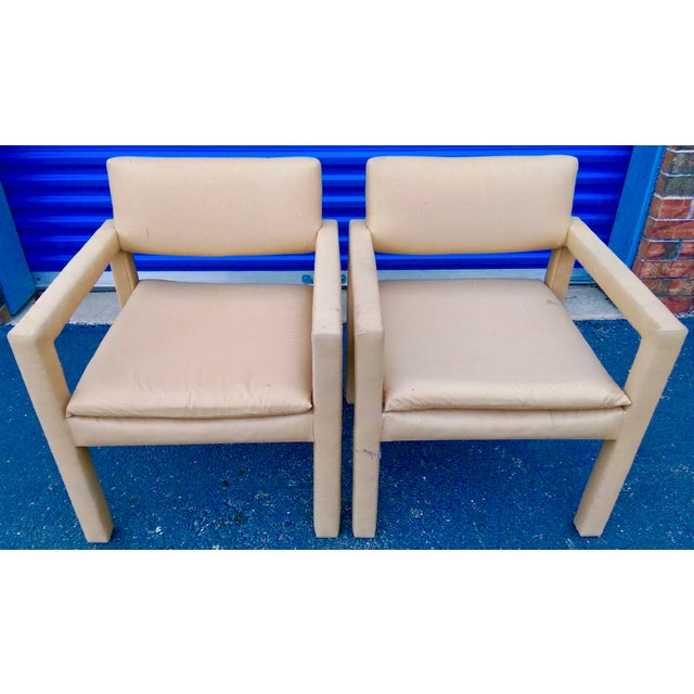 Milo Baughman & Thayer Coggin Parsons Arm Chairs - A Pair - Image 3 of 10