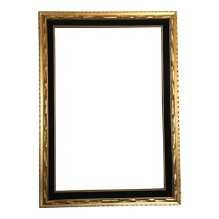 Carved Wood & Velvet Gold Frame