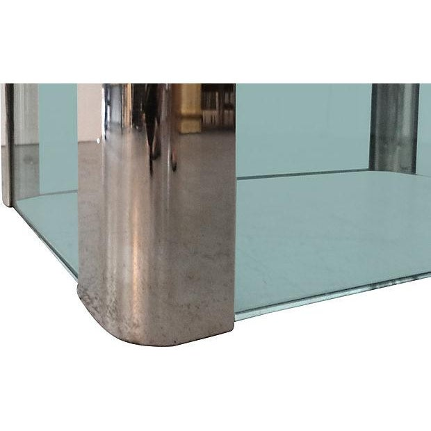 Mid-Century Pace Chrome & Glass Dining Table - Image 4 of 5