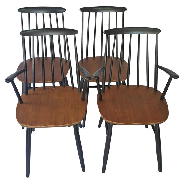 Tapiovaara-Style Dining Chairs - Set of 4 - Image 1 of 6