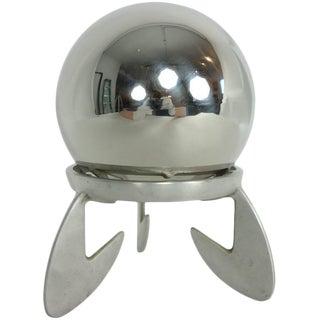 1940s Art Deco Gazing Ball on Atomic Aluminum Base