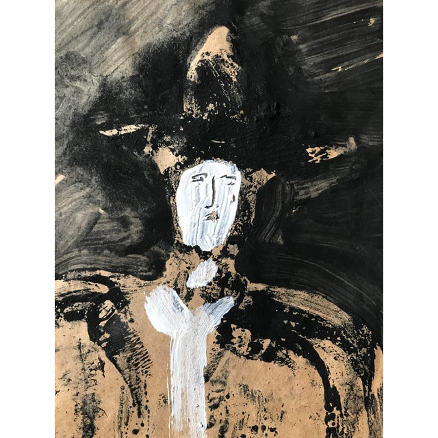 """1968 Jack Hooper """"Man With Hat"""" Painting - Image 3 of 8"""