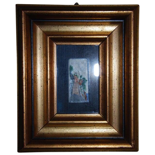 Image of Capri Miniature Painting on Ivory Piano Key