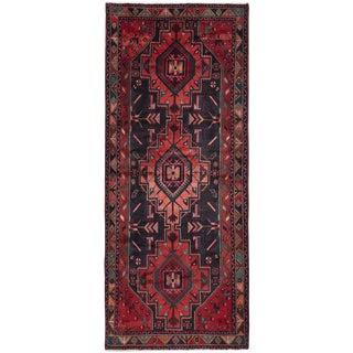 "4'5"" x 10'3"" Koliai Vintage Persian Rug"