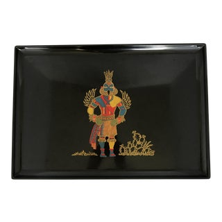 Vintage Couroc Kachina Indian Serving Tray
