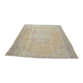 "Bohemian Vintage Overdyed Oushak Carpet - 81"" x 102"""