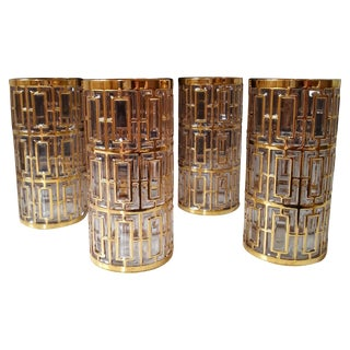 Hollywood Regency Imperial Glass Highball Glasses
