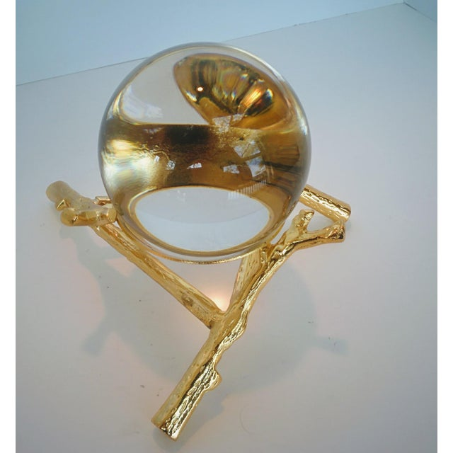 Crystal Orb With Gold Base - Image 6 of 9