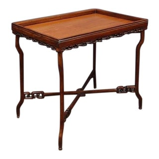 A Chinese Export Hardwood Folding Tray Table