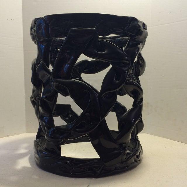 Image of Vintage Black Ribbon Side Table