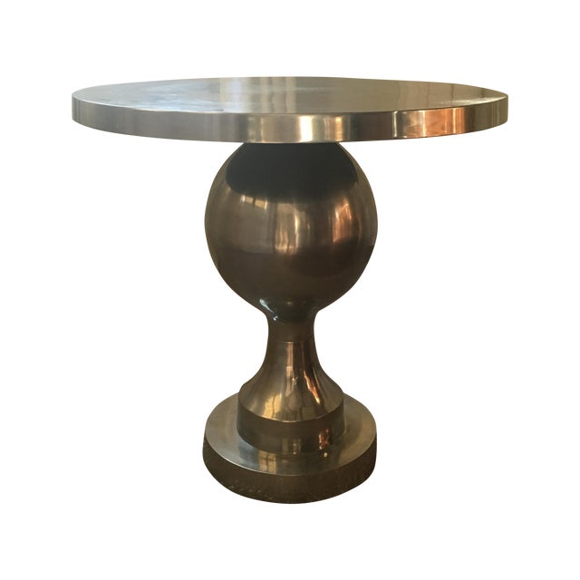 Vintage Silver Tulip Table - Image 1 of 6