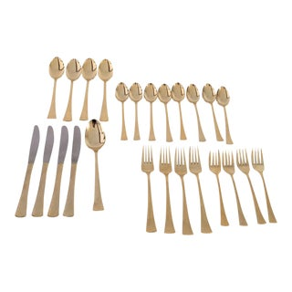 Elegant Barclay Geneve Gold Plated Flatware - Set of 25