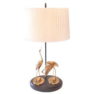 Brass Egrets Sculpture Lamp