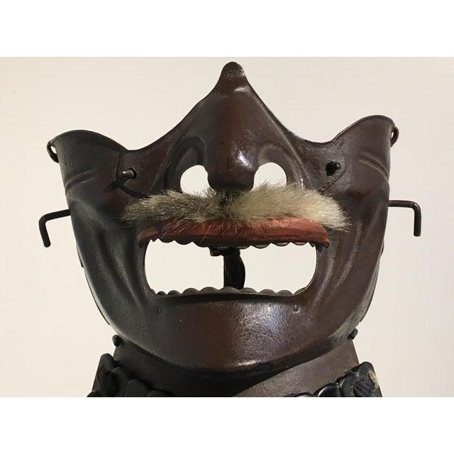 Fine Japanese Taisho Period Samurai Face Mask Menpo Decaso