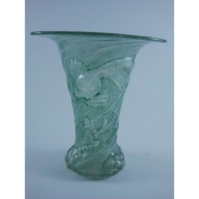 Image of Mould-Blown Art Glass Goldfish Vase