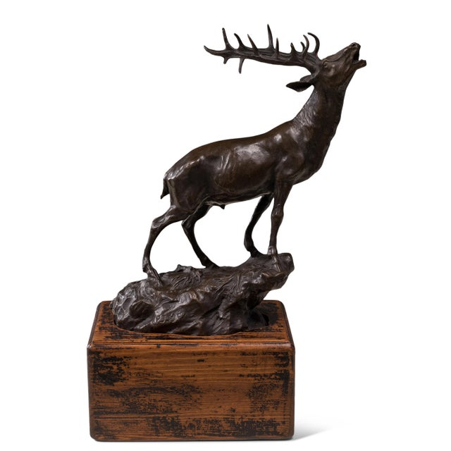 Sarreid LTD Bronze Bugling Elk Figure - Image 3 of 3