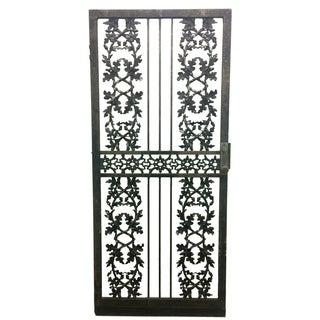 Wrought Iron Acorn & Oak Leaf Door