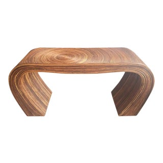 Pencil Reed Bamboo Scroll Ming Console Table