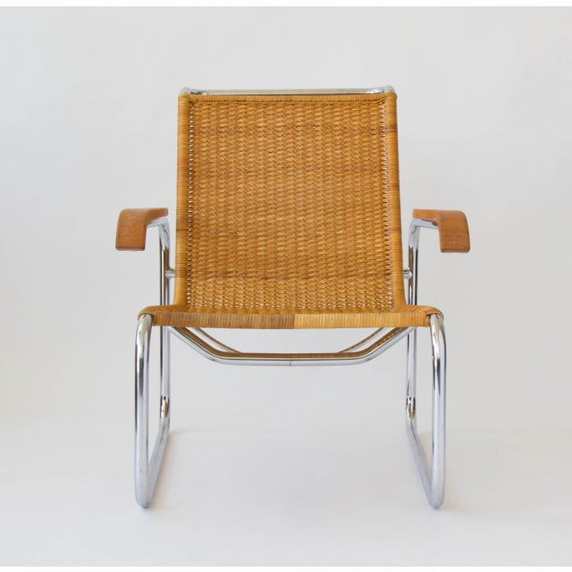 Marcel Breuer for Thonet B35 Rattan Lounge Chair - Image 3 of 7