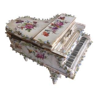 Antique Porcelain Piano Box