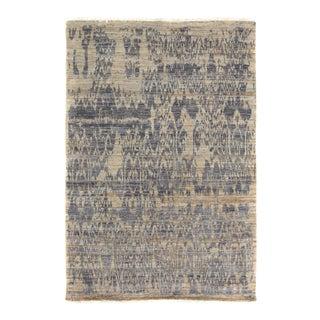 Kafkaz Peshawar Crysta Gray & Blue Wool Rug - 4'1 X 6'3