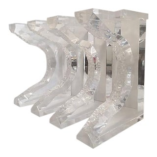 Hand Sculpted Lucite Bench Legs - Set of 4