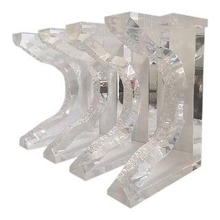 Hand Sculpted Lucite Bench Legs - Set of 4